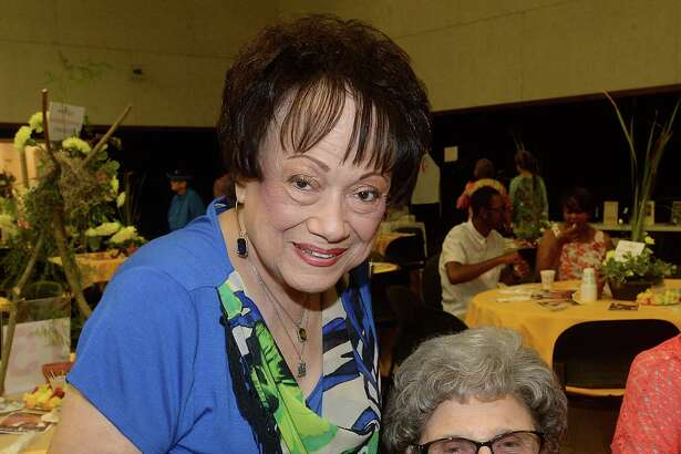 Rosita Day and Arthurine Borque were at the 25th annual Breakfast with the Bishop fundraiser Saturday morning at St. Jude Thaddus Catholic Church in Beaumont. The event raises funds to support Catholic Charities of Southeast Texas, which provides a myriad of social services to the community. Guests enjoyed socializing as a Cajun band performed onstage while gathering for a buffet breakfast and silent auction.  Photo taken Saturday, June 25, 2016 Kim Brent/The Enterprise