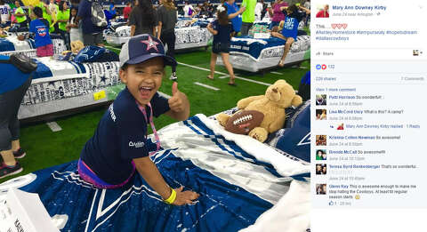 4ffbbd24822 100 kids have sleepover at Dallas Cowboys' AT&T Stadium as part of ...