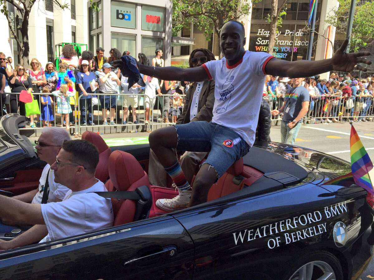 Actor Michael K. Williams attends the SF Pride parade; he's best known for his role as Omar Little on the HBO drama series