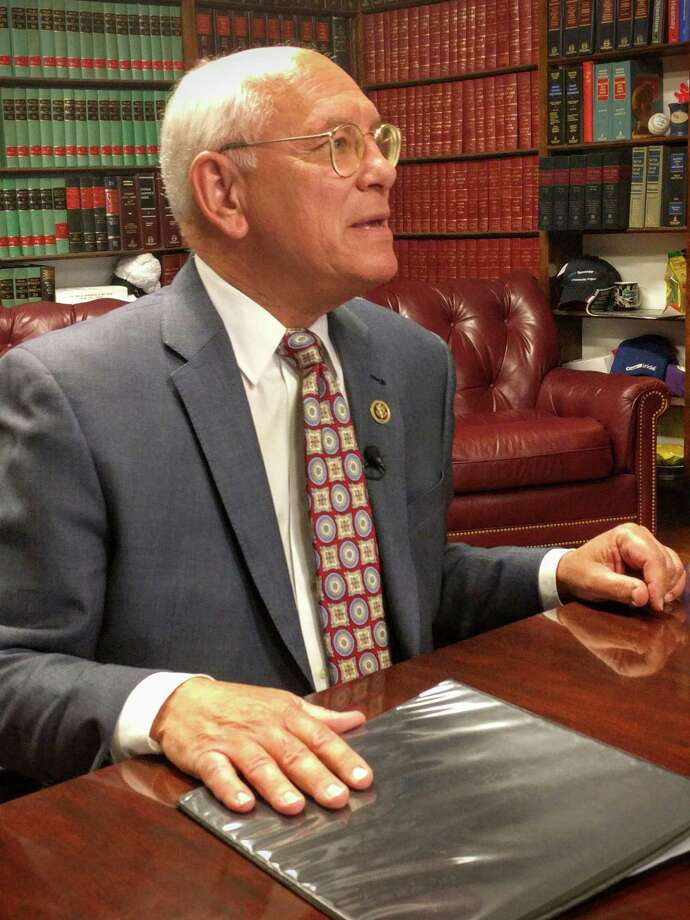 """U.S. Rep. Paul D. Tonko urged stronger gun control measures, including a """"No Fly, No Buy"""" bill banning those on the terrorist watch list from buying weapons, Sunday after arriving in Albany days after a 26-hour sit-in by House Democrats. (Photo: J.p. Lawrence)."""