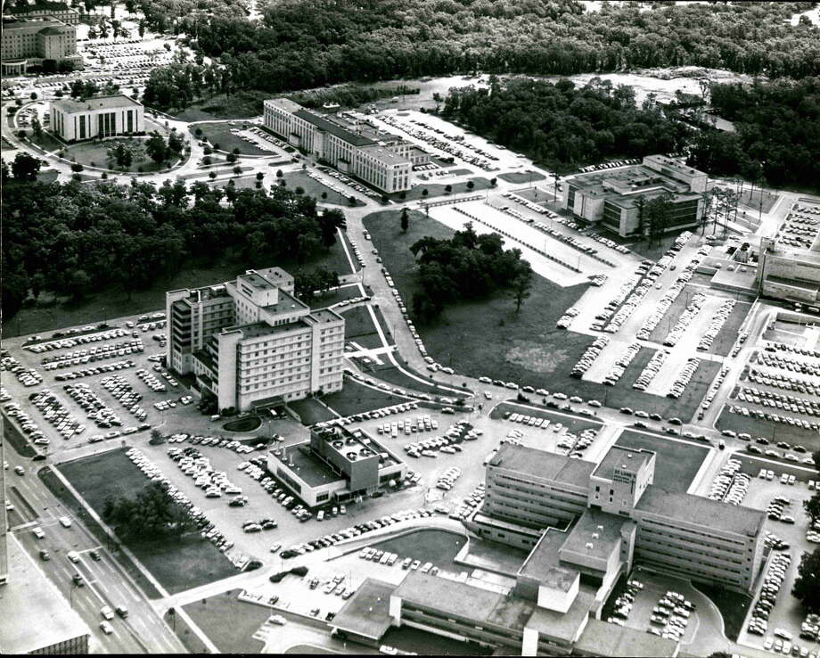 An aerial view of the Texas Medical Center in 1958. Photo: Owen Johnson, HP Staff / Houston Chronicle