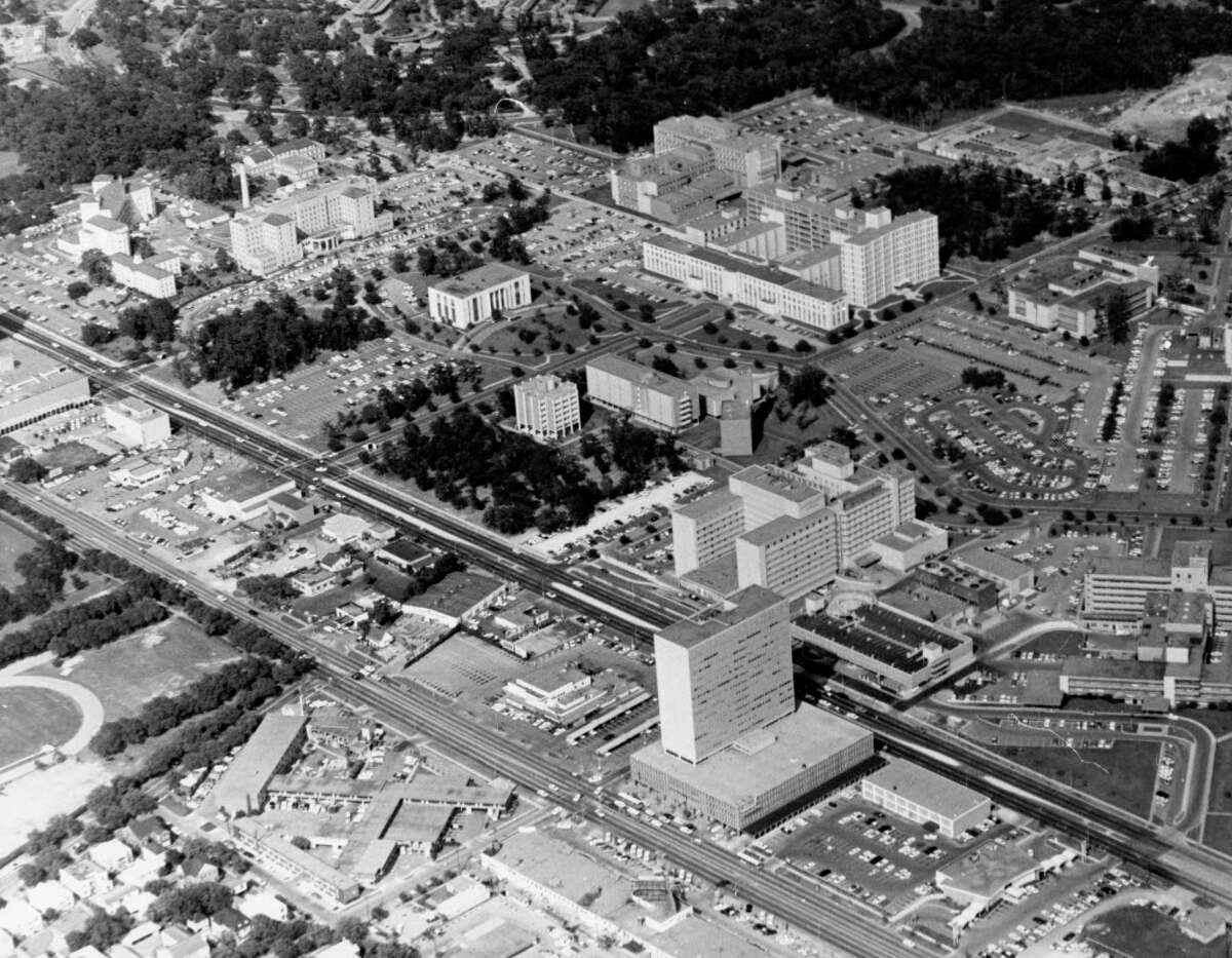 An aerial view ofthe Texas Medical Center in 1958.