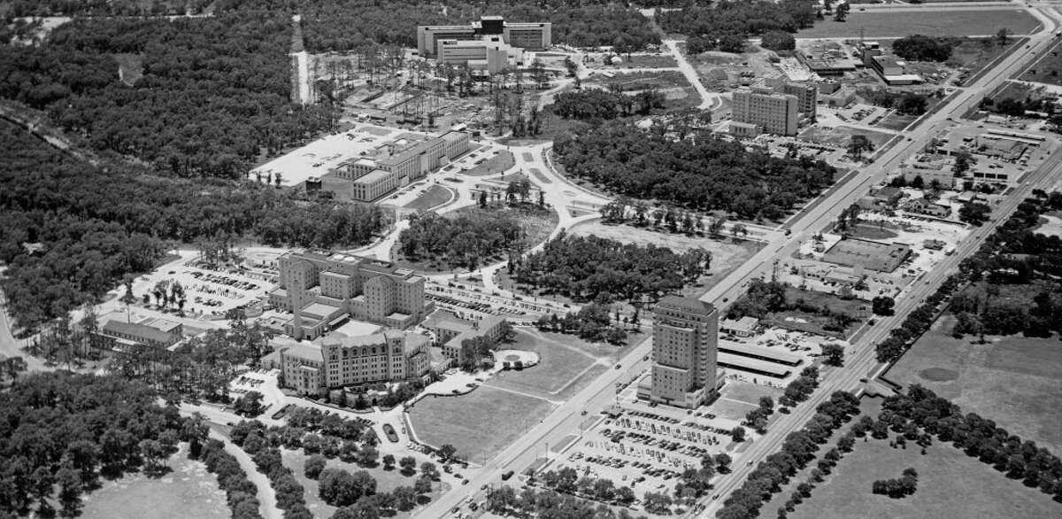 An aerial view of the Texas Medical Center in 1952.