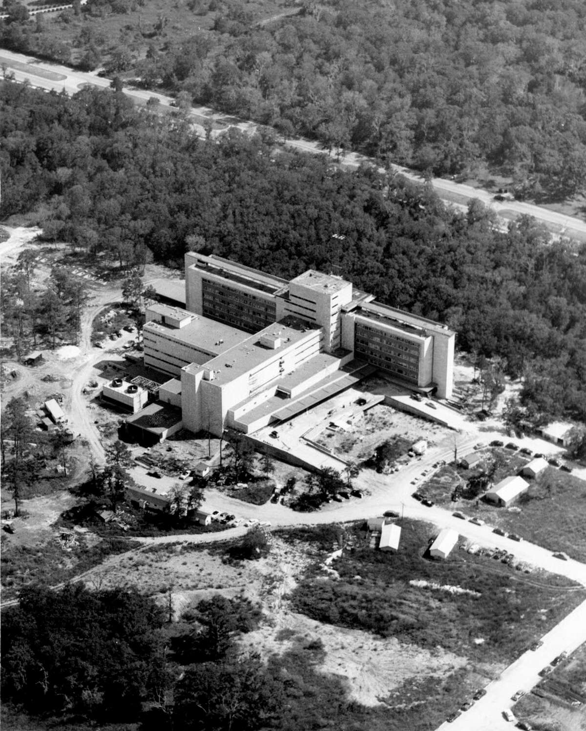 Construction of MD Anderson Hospital for Cancer Research was ongoing in 1952. The school opened its new center in 1954, when 46 patients were moved in from its original facility.