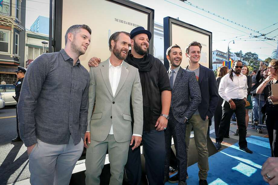 """The cast of HBO's """"Looking: The Movie"""" poses for photos at the premiere at the Castro Theatre on Sunday. Photo: Amy Osborne, Special To The Chronicle"""