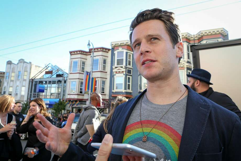 """Actor Jonathan Groff talks to a reporter about his time in San Francisco filming the HBO series """"Looking."""" Photo: Amy Osborne, Special To The Chronicle"""