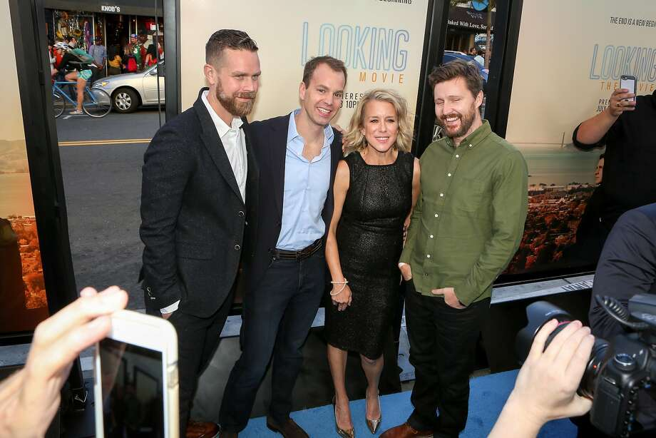 """The """"Looking: The Movie"""" cast poses for photos. Photo: Amy Osborne, Special To The Chronicle"""