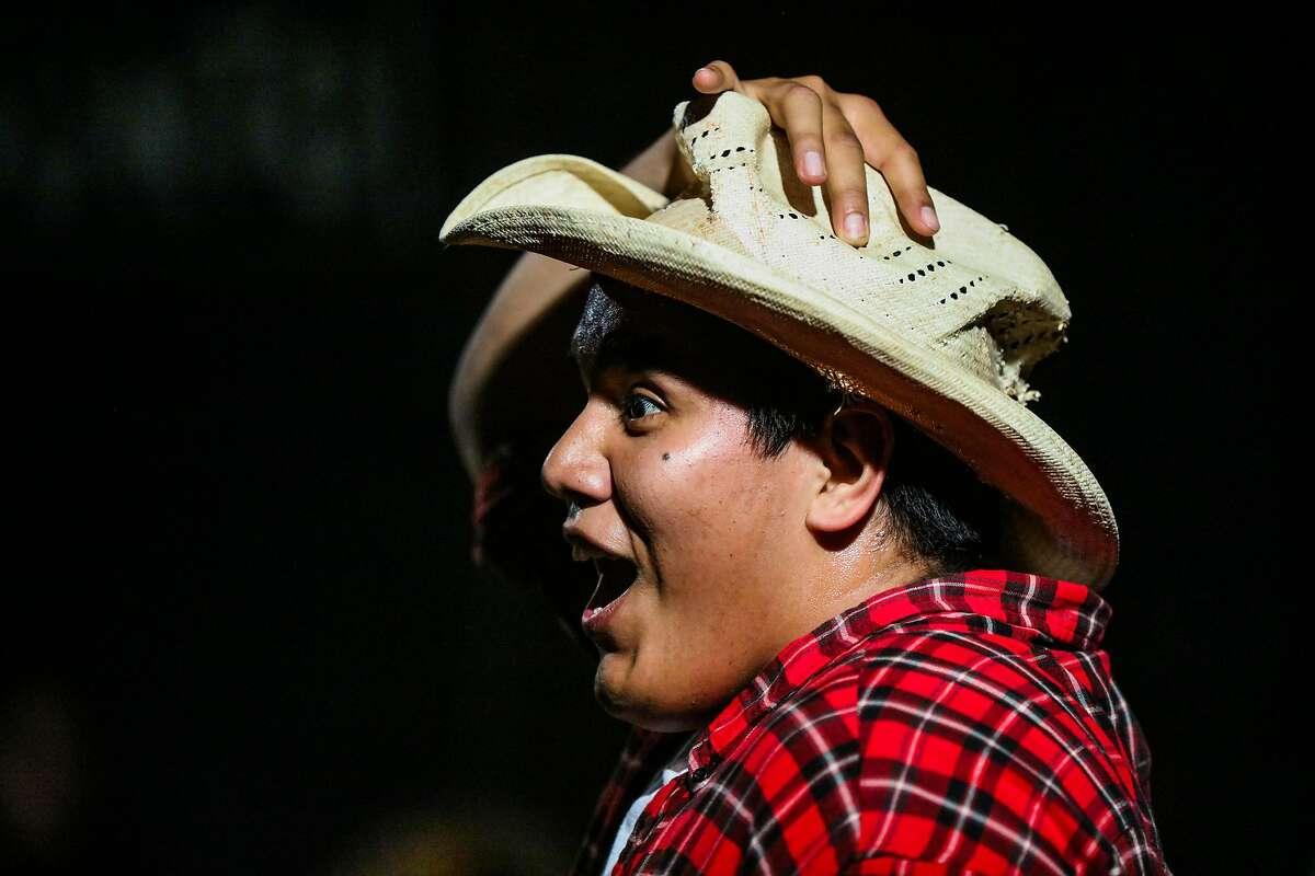 "Actor Sedrick Cabrera performs during the show ""Viva La Causa"", at El Teatro Campesino, in San Juan Bautista, California, on Friday, June 24, 2016."