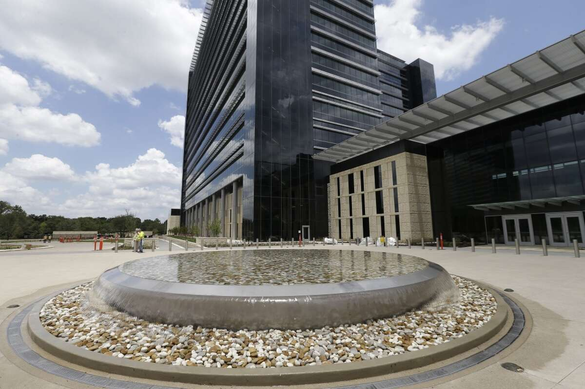 A fountain at the entrance to the Phillips 66 headquarters, 2331 CityWest Blvd., is shown Tuesday, June 21, 2016, in Houston. ( Melissa Phillip / Houston Chronicle )