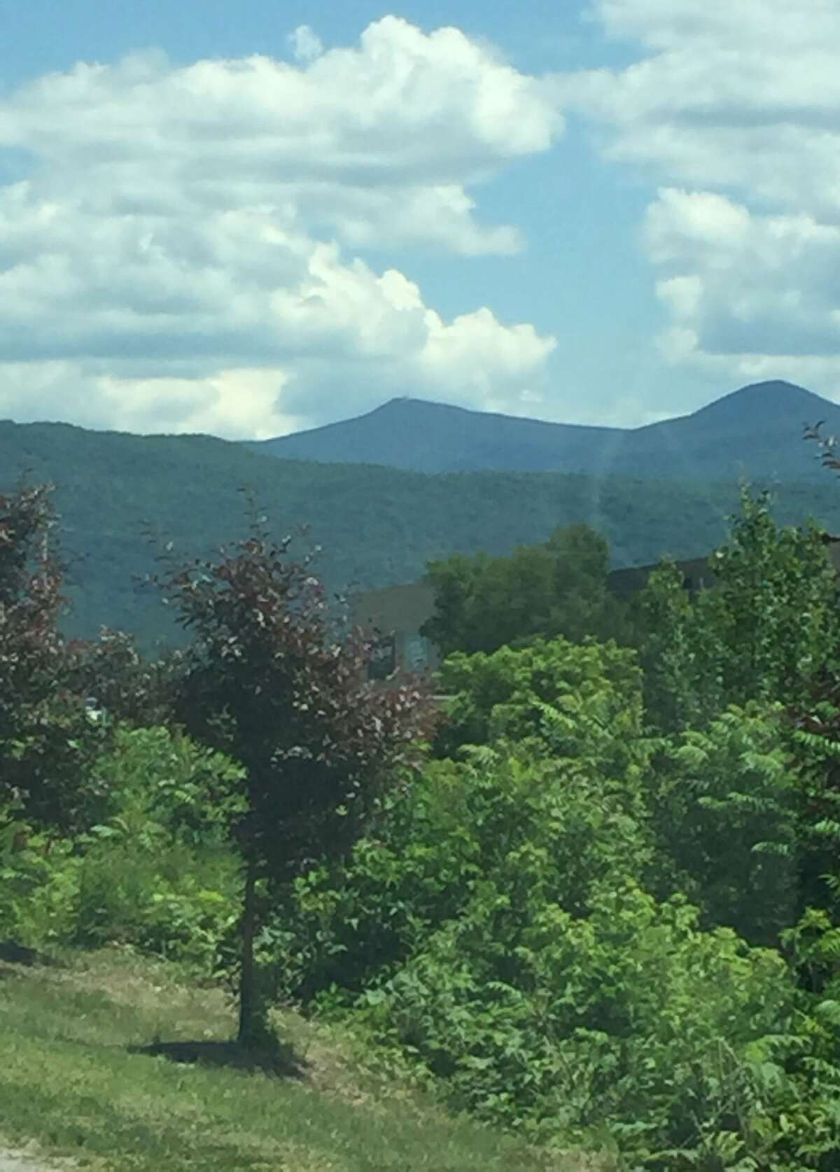 A view of the scenery near Rutland on the way to Waterbury, VT.