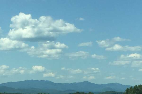 A view of the Green Mountains on the way to Waterbury, VT.