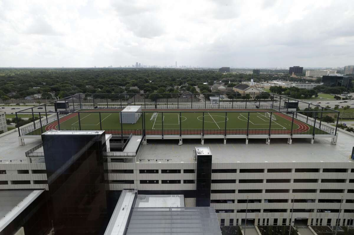 The sport court at the Phillips 66 headquarters, 2331 CityWest Blvd., is shown Tuesday, June 21, 2016, in Houston. ( Melissa Phillip / Houston Chronicle )