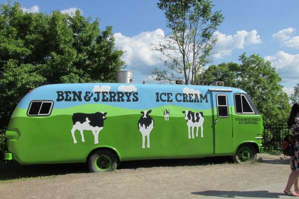 Outside of the Ben & Jerry's Factory in Waterbury, VT.