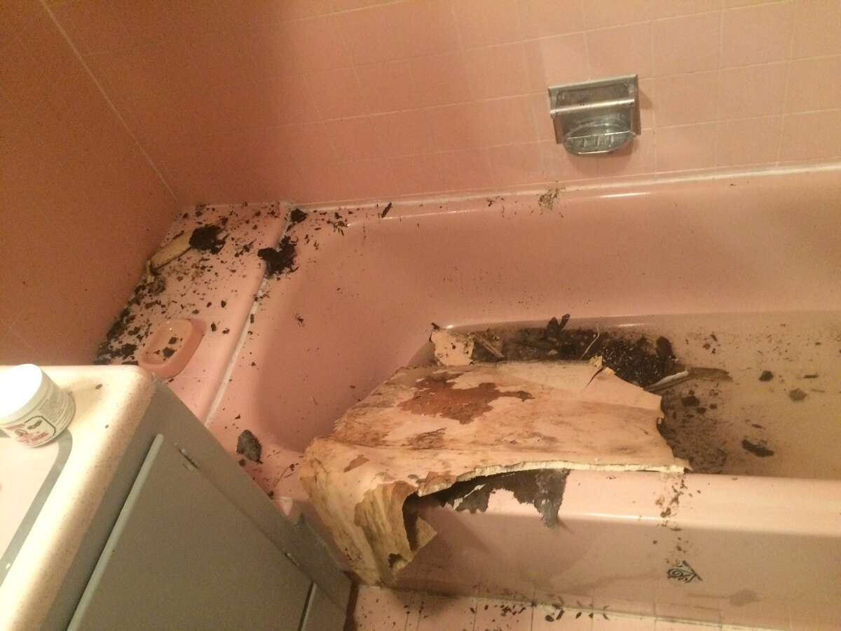 This photo shows the deplorable condition of Neil Hutchinson's apartment.