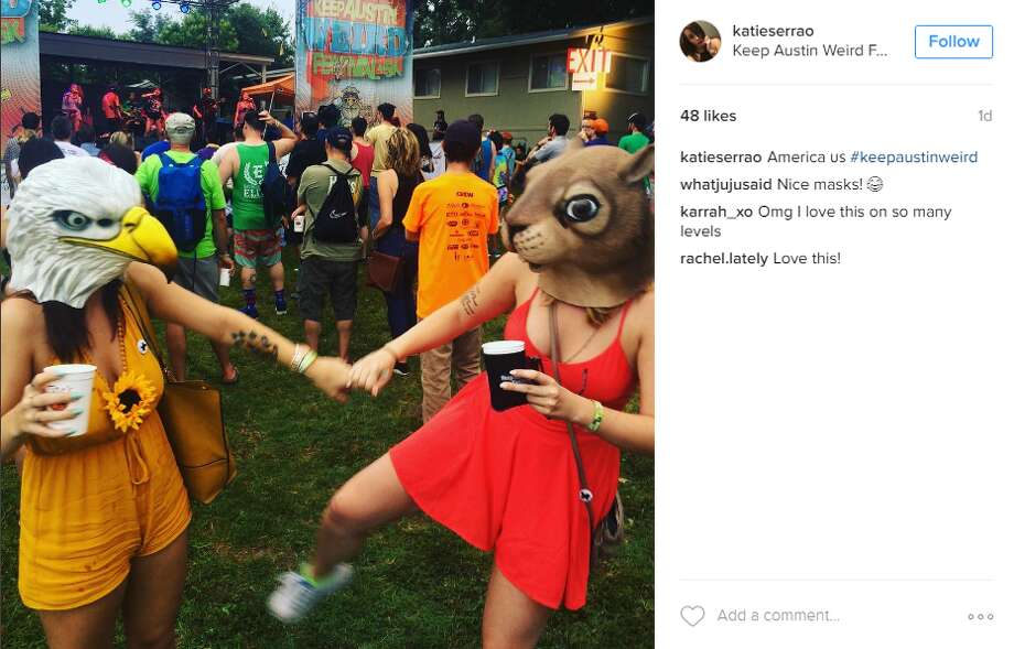 Austinites donned their oddest outfits on Saturday for the 14th annual Keep Austin Weird Festival. Photo: Instagram