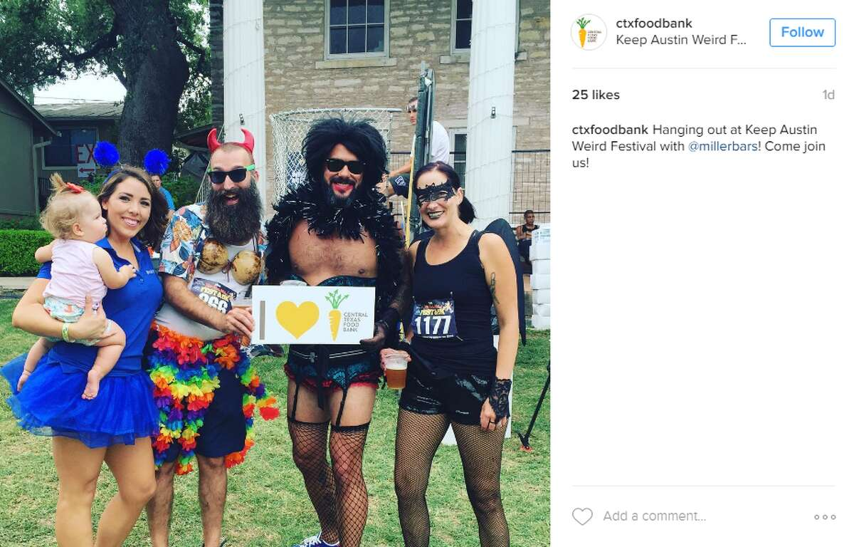 Austinites donned their oddest outfits on Saturday for the 14th annual Keep Austin Weird Festival.