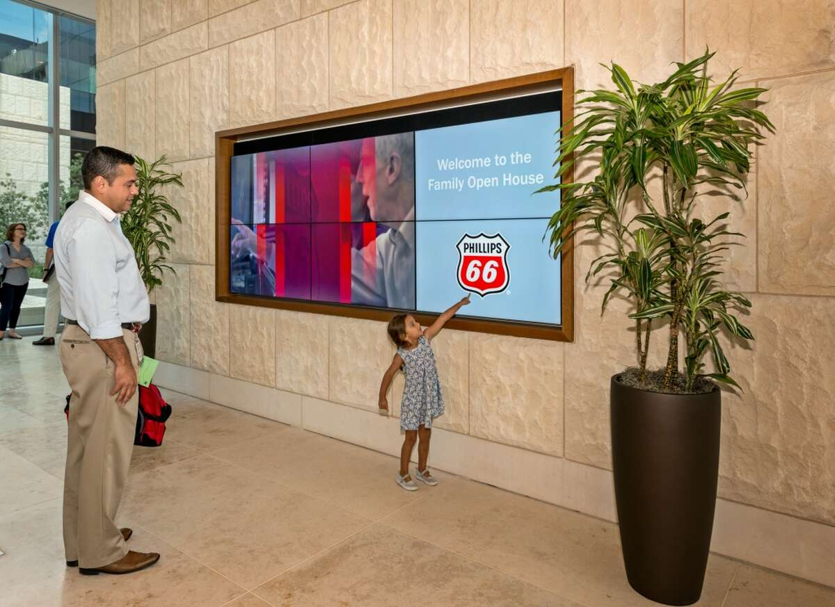 Phillips 66 hosted workers and their families at the new headquartes on Saturay.