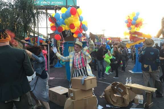 "Carnival barkers and ""storybucks"" to ""keep San Francisco weird"" at ""Midwayville"""
