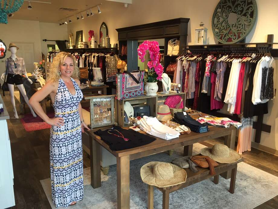 STORE:        Scout & Molly's, LOCATION:3311 Westpark DriveTHE 411:     Owner Susan Bradley, who formerly worked in the oil industry, opened women's wear store,  Scout & Molly's, earlier this year.  Photo: Joy Sewing