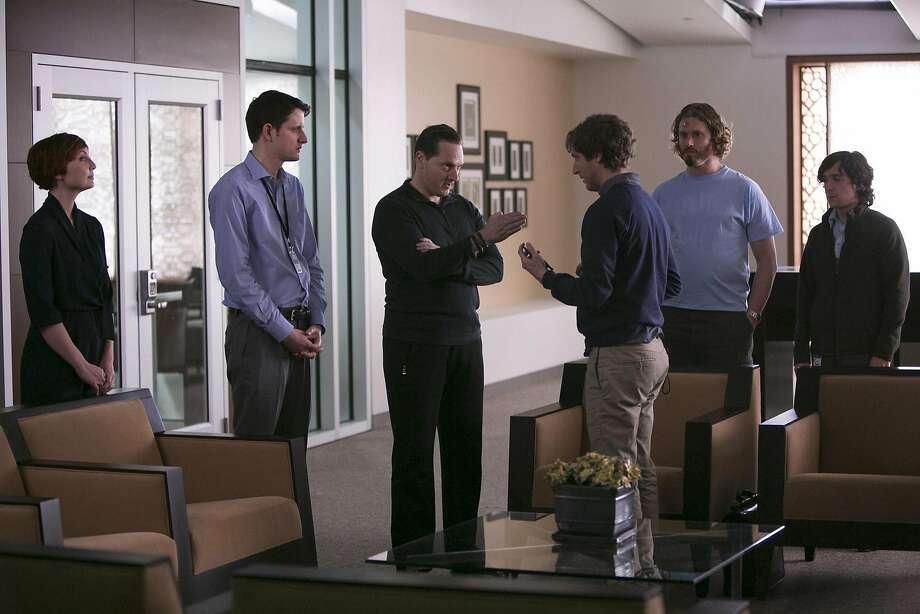 "Matt Ross (second from left) in a scene from ""Silicon Valley."" Photo: Contributed Photo, Contributed Photo"
