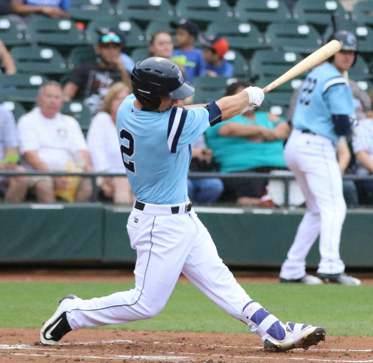Alex Bregman clubbed 14 home runs for Class AA Corpus Christi during the first half of the Texas League season. (Photo courtesy Amanda Pruett / Corpus Christi Hooks)