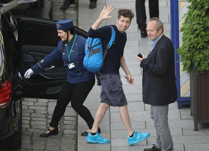 DRESDEN, GERMANY - JUNE 09:  Sam Altman, President of Y Combinator, arrives at the Hotel Taschenbergpalais Kempinski Dresden for the 2016 Bilderberg Group conference on June 9, 2016 in Dresden, Germany. The Taschenbergpalais is hosting the 2016 Bilderberg Group gathering that will bring together 130 leading international players from politics, industry, finance, academia and media to discuss globally-relevant issues from today until June 12. A wide spectrum of groups have announced protests to be held nearby. Critics charge the secretive nature of the Bilderberg Group annual meetings is undemocratic.  (Photo by Sean Gallup/Getty Images)