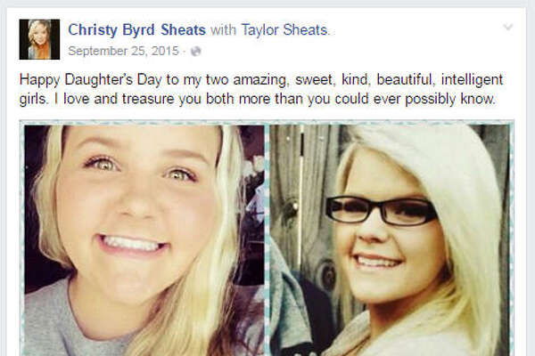 Christy Sheats, 42, shot and killed her two daughters on Friday, June 24, 2016, according to police. The daughters, 17-year-old Madison Sheats and 22-year-old Taylor Sheats, are pictured in this Facebook photo posted by their mother. (Source:  Facebook )