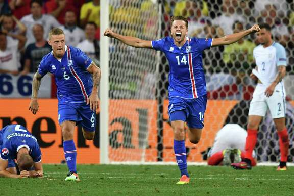 Kari Arnason captures the mood of Iceland's 330,000 residents while the English players are in disbelief after another disappointing result in a major event.