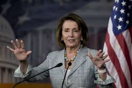 House Minority Leader Nancy Pelosi of Calif. speaks during her weekly news conference on Capitol Hill in Washington, Thursday, June 23, 2016, after House Democrats ended their gun control protest sit-in on the House Chamber floor. (AP Photo/Carolyn Kaster)