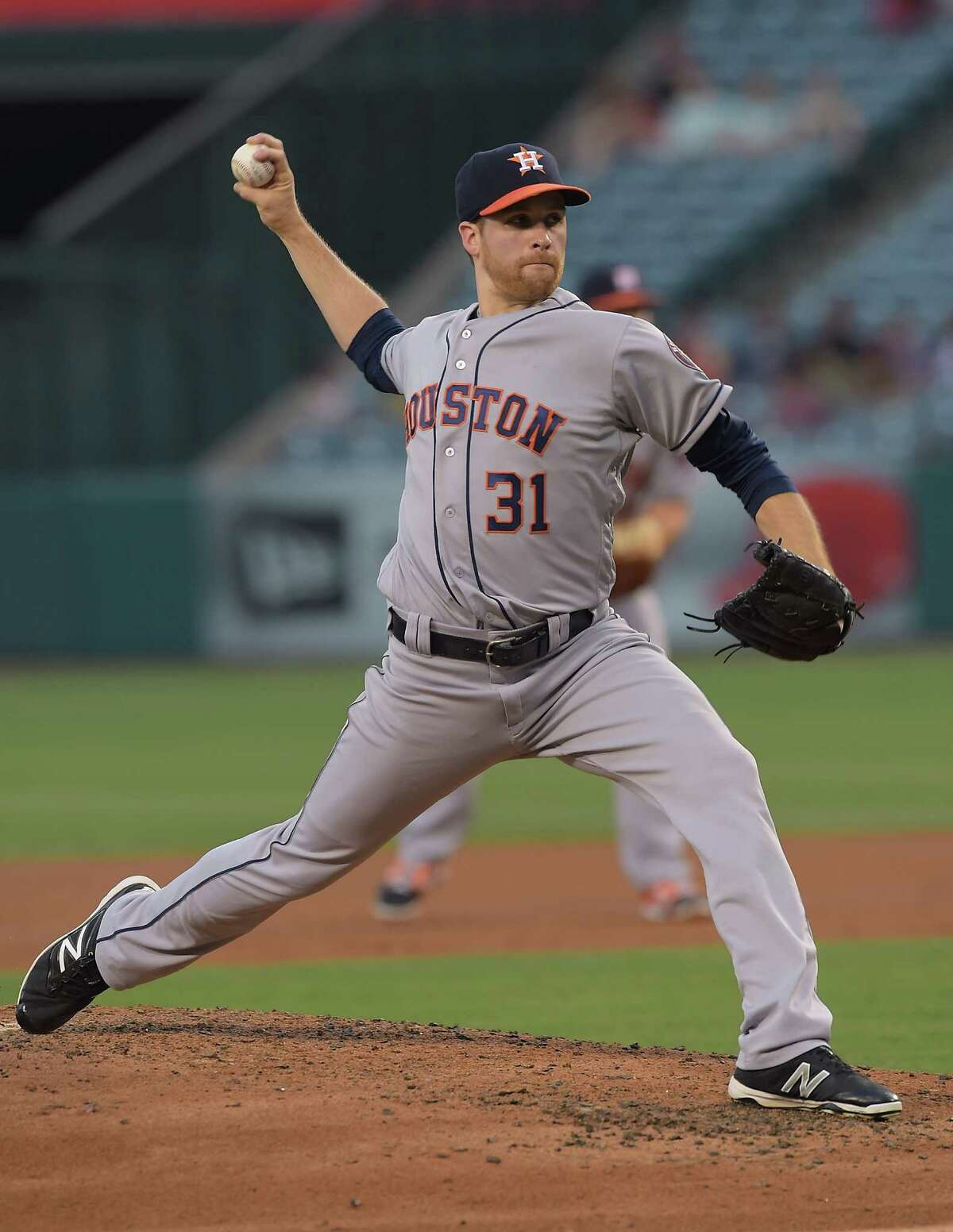 June 27: Astros 4, Angels 2 ANAHEIM, CA - JUNE 27: Collin McHugh #31 of the Houston Astros in the second inning of the game against the Los Angeles Angels at Angel Stadium of Anaheim on June 27, 2016 in Anaheim, California.
