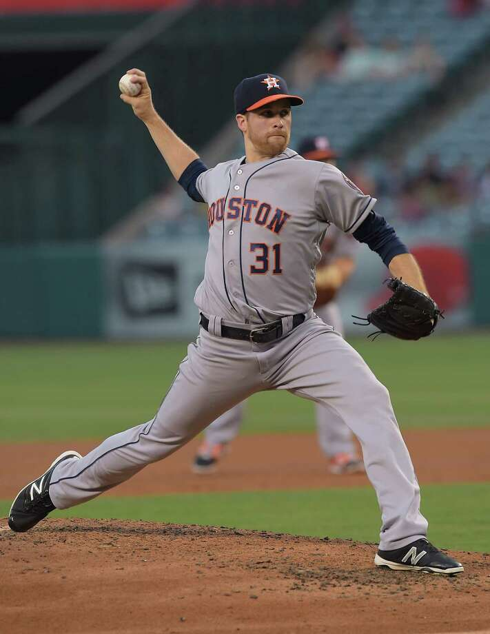 June 27: Astros 4, Angels 2ANAHEIM, CA - JUNE 27:  Collin McHugh #31 of the Houston Astros in the second inning of the game against the Los Angeles Angels at Angel Stadium of Anaheim on June 27, 2016 in Anaheim, California. Photo: Jayne Kamin-Oncea, Getty Images / 2016 Getty Images