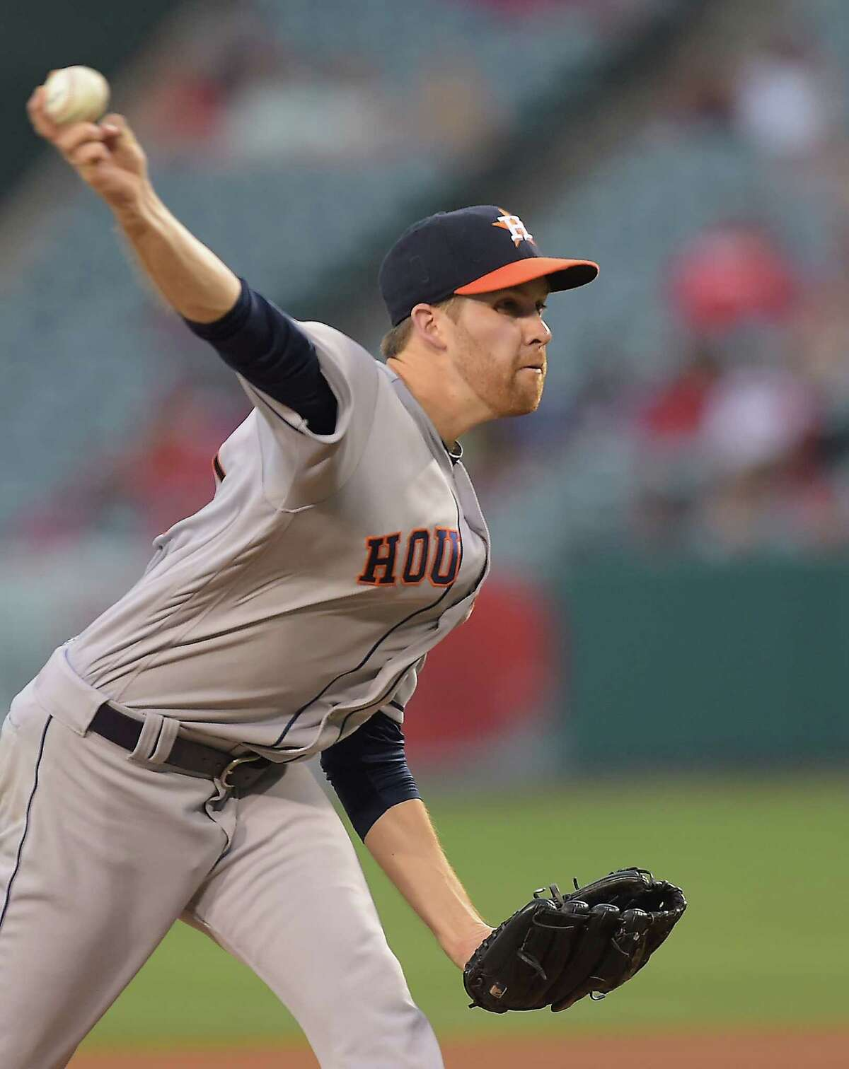 ANAHEIM, CA - JUNE 27: Collin McHugh #31 of the Houston Astros in the second inning of the game against the Los Angeles Angels at Angel Stadium of Anaheim on June 27, 2016 in Anaheim, California.