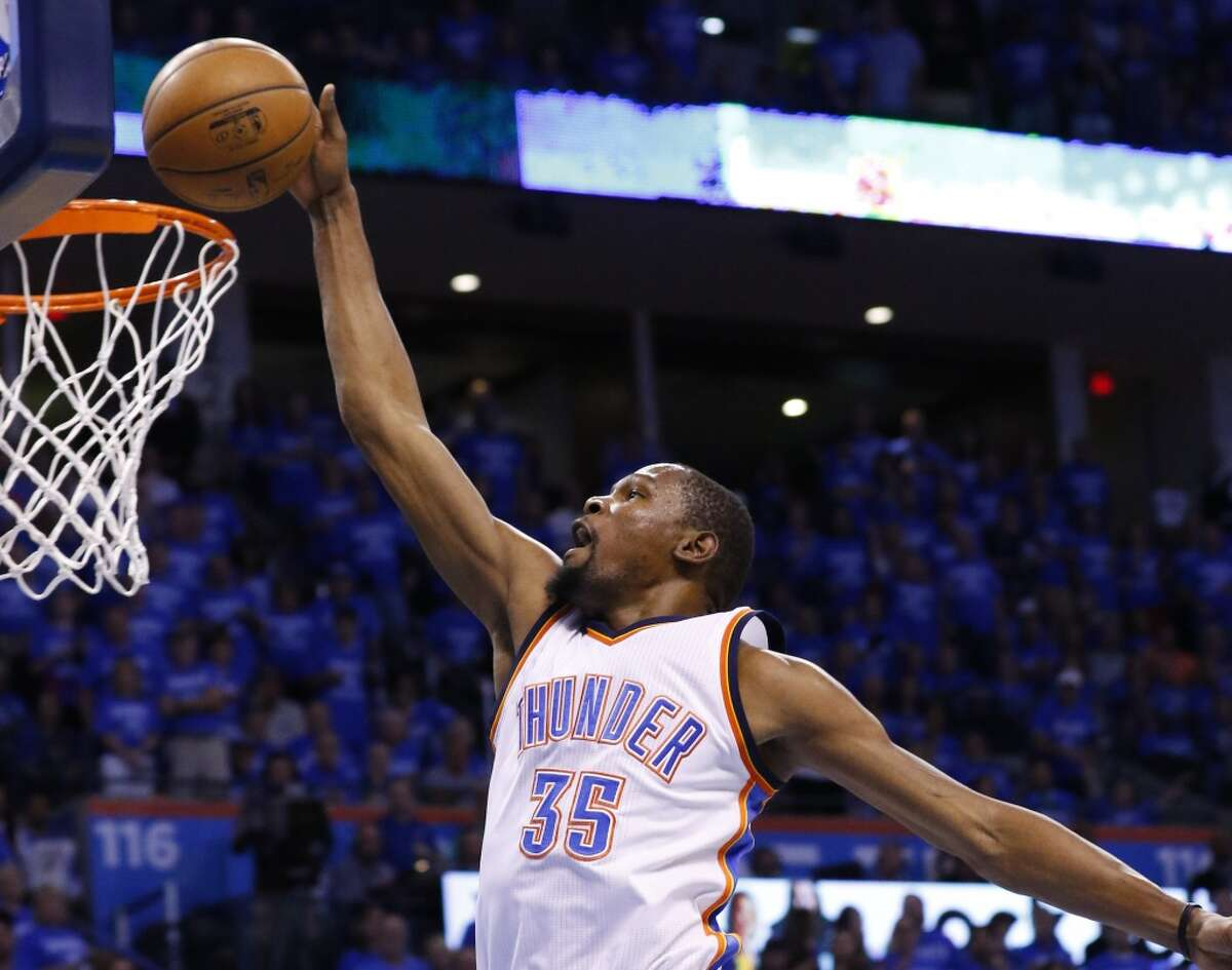 7. In the rare moments when the Warriors' offense bogs down, like game 7 of the NBA Finals, Durant has the capacity to jump start it.