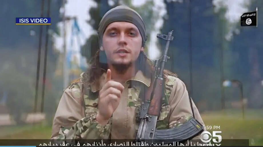 A new pro-ISIS video calls for terrorism in San Francisco and Las Vegas. Photo: CBS San Francisco