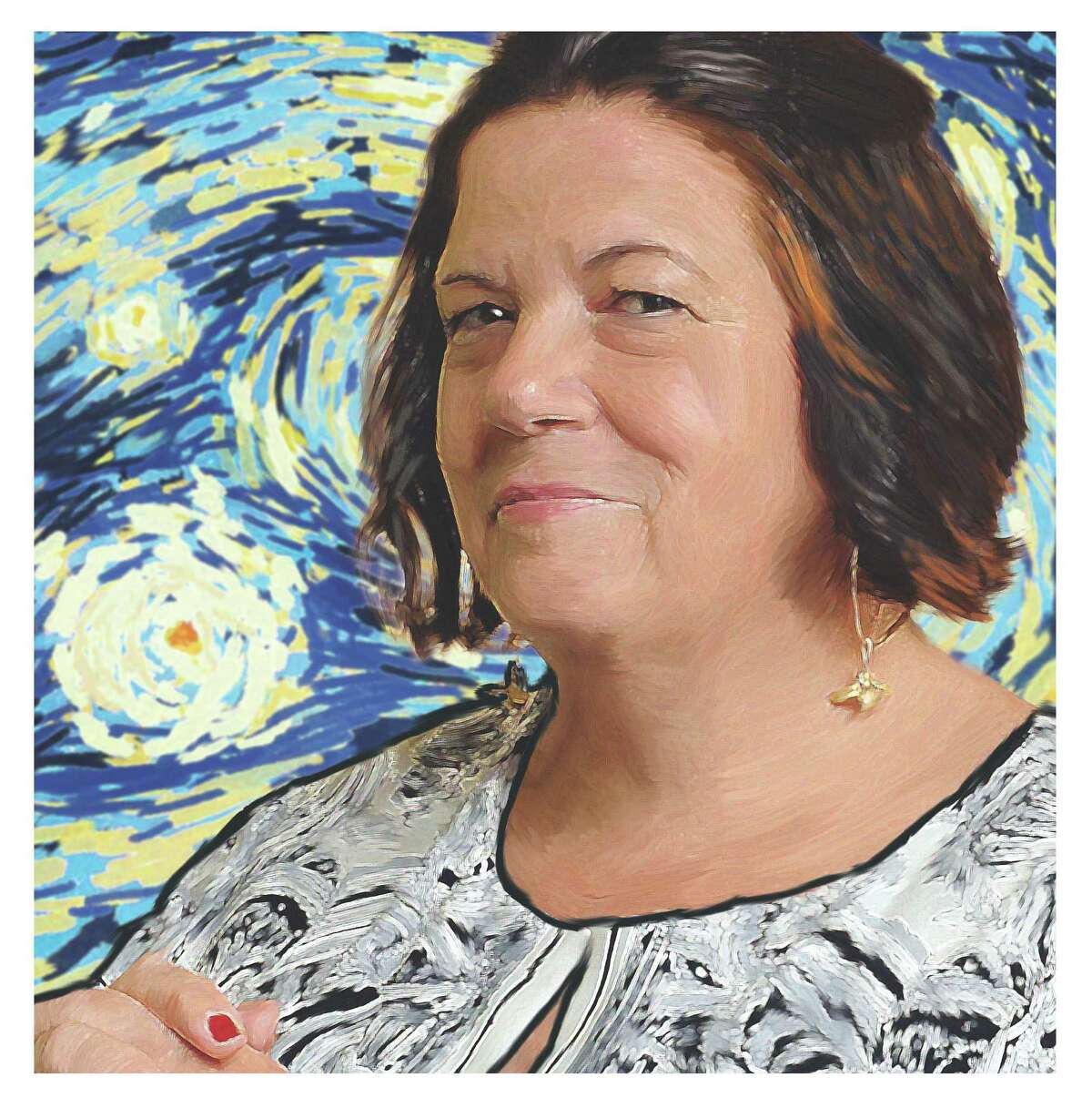 Photo illustration of Liz Reiss, CEO at The Arts Center of the Capital Region. (Tyswan Stewart / Times Union)