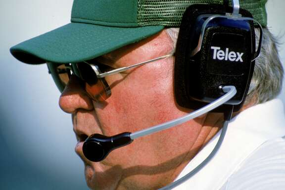 1989: Head coach Buddy Ryan of the Philadelphia Eagles looks on during a game in the 1989 season. (Photo by Bernstein Associates/Getty Images)