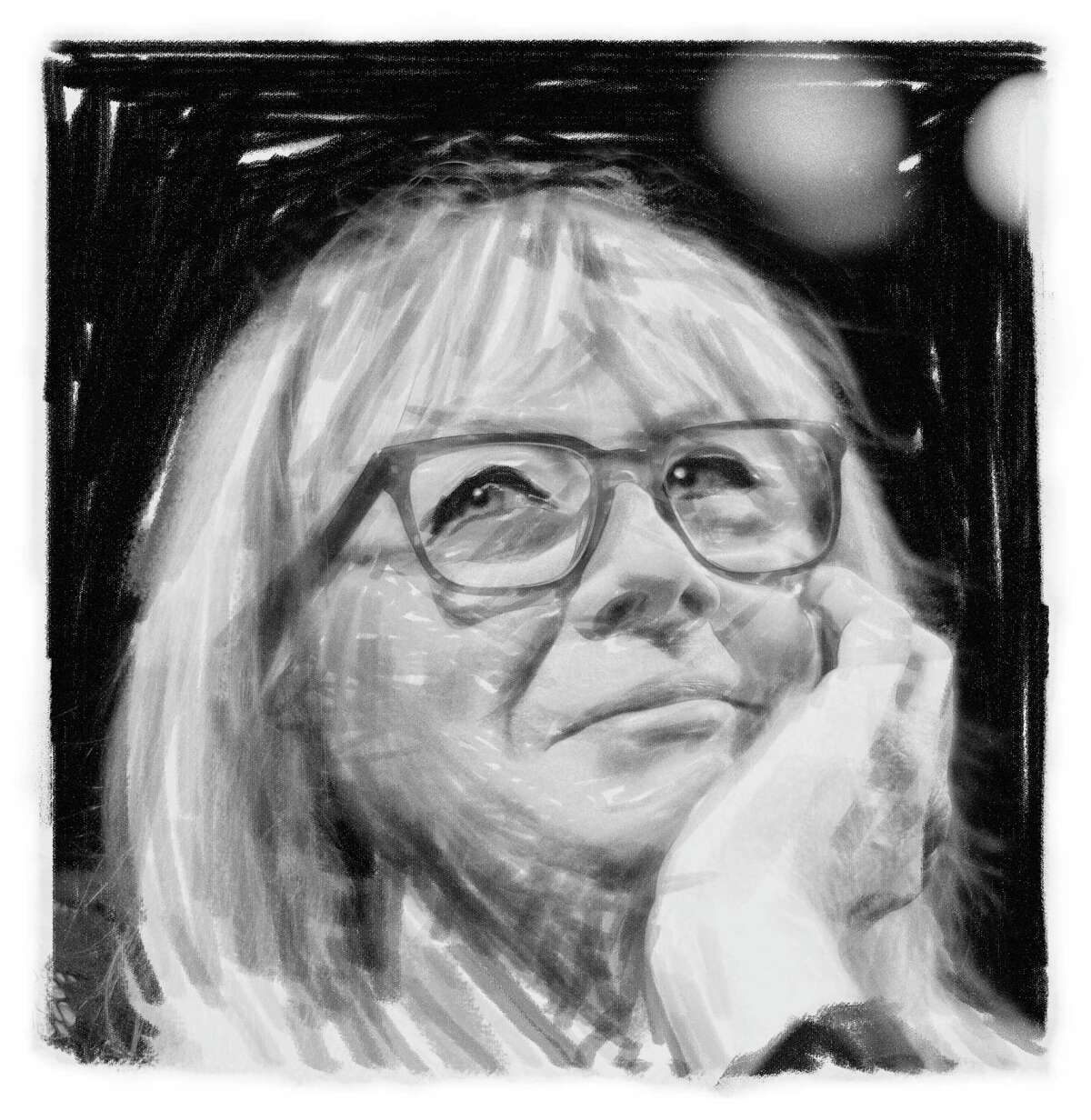 A photo illustration of Maggie Mancinelli-Cahill, producing artistic director at Capital Repertory Theatre. (Tyswan Stewart / Times Union)