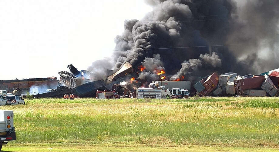 Large-scale train derailment reported just outside of