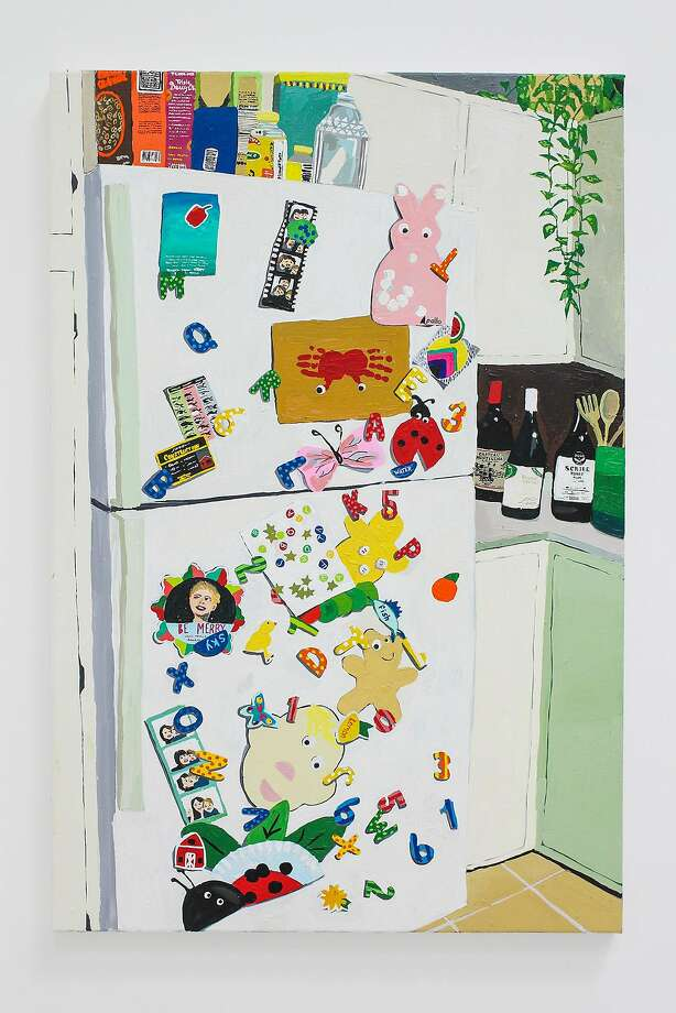 """Fridge Clutter"" and other works were inspired by Pecis' new surroundings. Photo: Courtesy Alan Gonzalez"