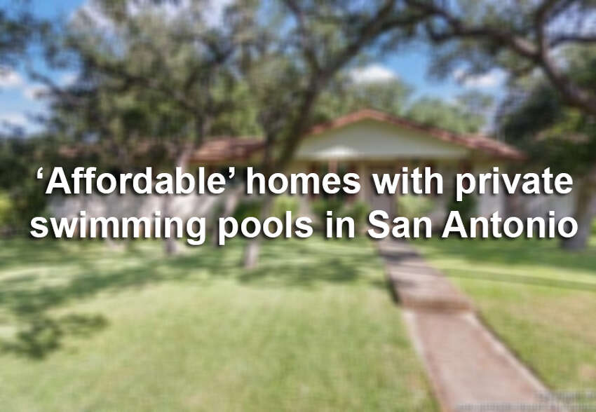 Scroll the slideshow for 10 San Antonio homes priced in the $200,000 range with backyard swimming pools.