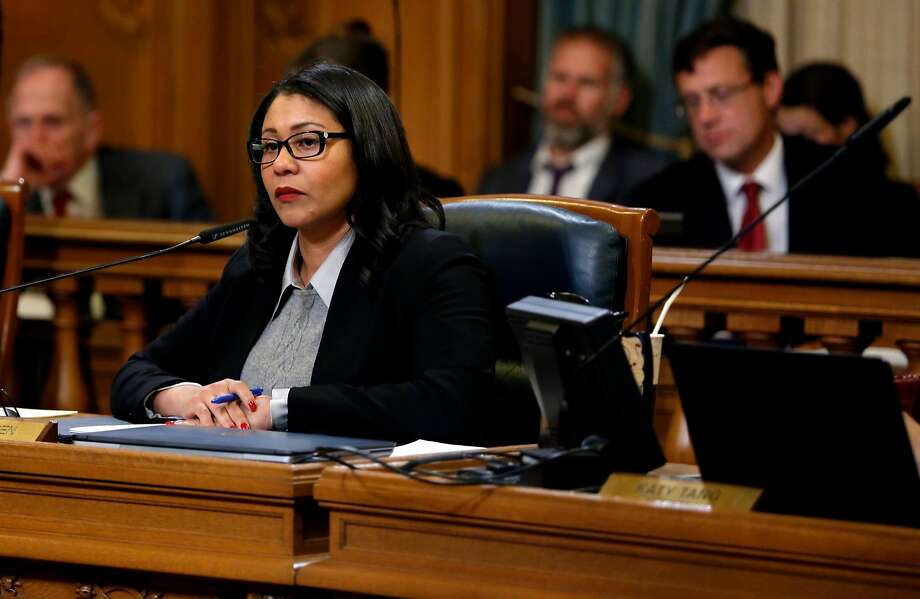 Supervisor London Breed listens to other supervisors during a Board of Supervisors meeting at City Hall in December. Breed and other supervisors are proposing new restrictions on Airbnb. Photo: Connor Radnovich, The Chronicle