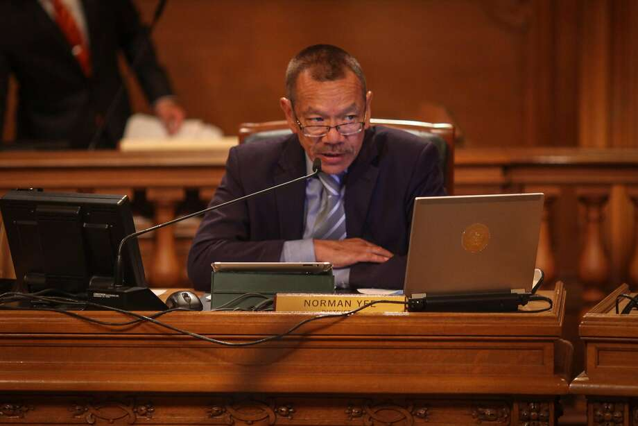 Supervisor Norman Yee, during a Board of Supervisors meeting which discussed David Chiu's proposed legislation to regulate Airbnb and other short-term rentals in San Francisco on October 7th 2014. Photo: Sam Wolson, Special To The Chronicle