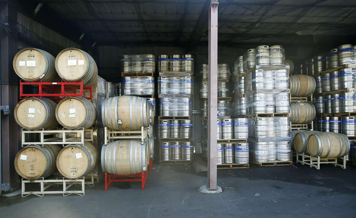 Beer stored at the Russian River Brewing Company production plant in Santa Rosa, Calif., on Monday, October 26, 2015.