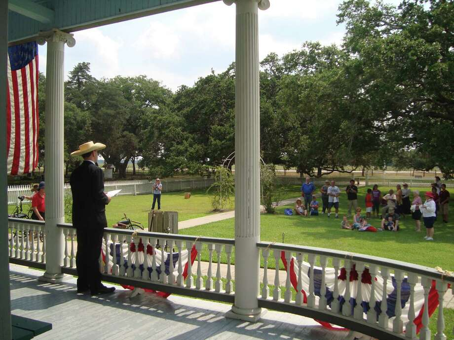A highlight of the annual Fourth of July celebration at George Ranch Historical Park in Richmond is a reading of the Declaration of Independence. Photo: George Ranch Historical Park