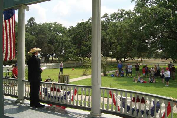 A highlight of the annual Fourth of July celebration at George Ranch Historical Park in Richmond is a reading of the Declaration of Independence.A highlight of the annual Fourth of July celebration at George Ranch Historical Park in Richmond is a reading of the Declaration of Independence.