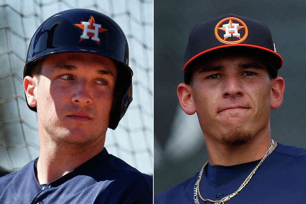 Astros prospects Alex Bregman (left) and Joe Musgrove have been selected to play in the MLB All-Star Futures Game on July 10 in San Diego.