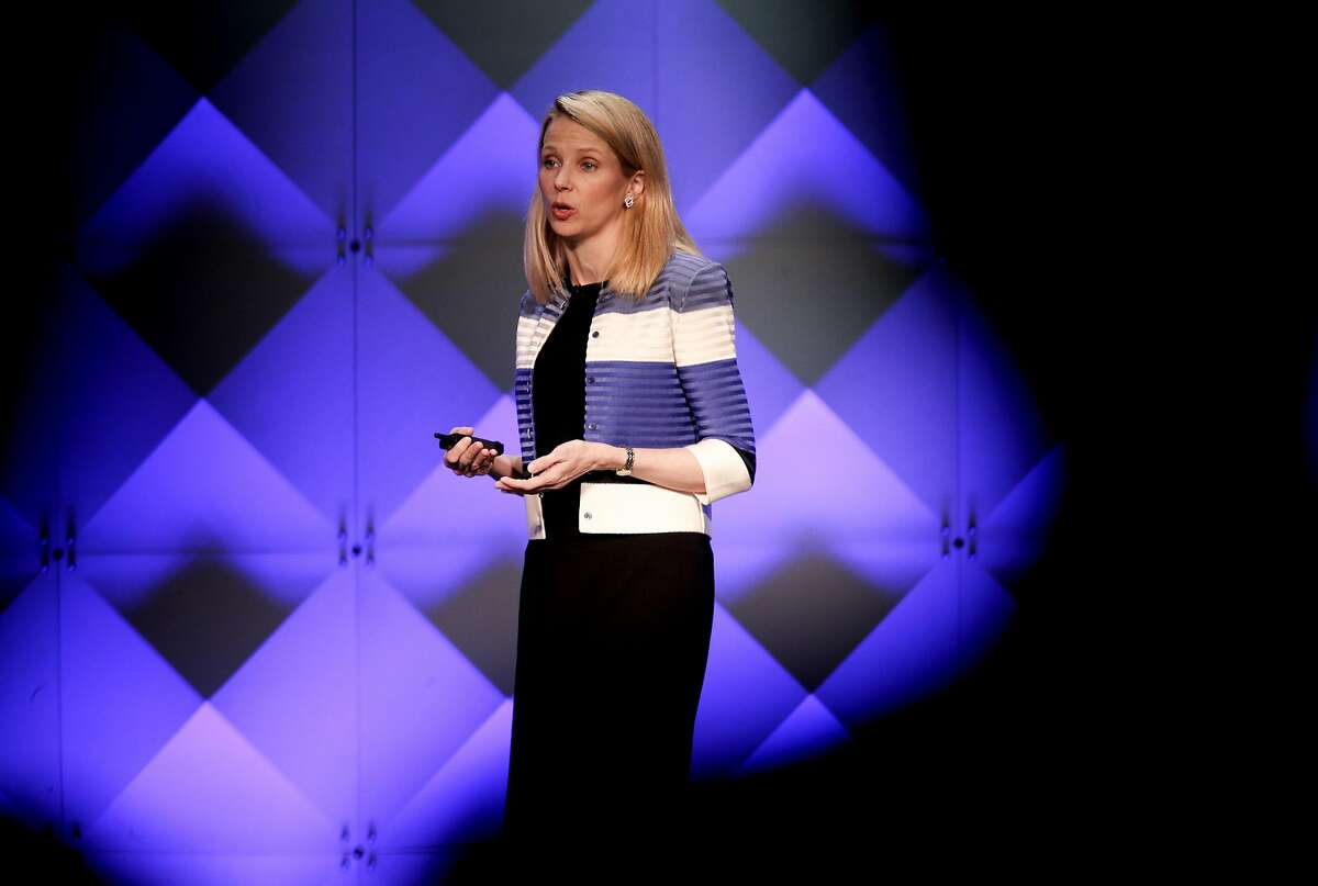 Yahoo CEO Marissa Mayer during the the Yahoo Mobile Device Conference at the Masonic Center in February. An announcement of a deal to sell Yahoo's Internet businesses to Verizon is expected Monday.