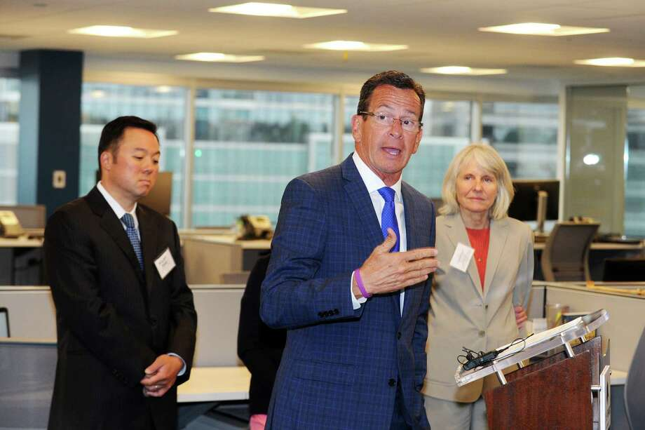 Gov. Dannel P. Malloy speaks during the grand opening ceremony for cyber-security firm BlackStratus inside their new office on West Broad St. in Stamford, Conn. on Tuesday, June 28, 2016. Photo: Michael Cummo / Hearst Connecticut Media / Stamford Advocate