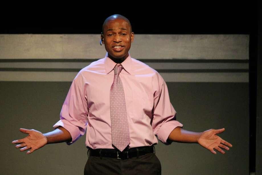 "Jovan Jackson in a scene from the Landing Theatre's ""Ten Ways on a Gun"" Photo: PAIGE KILIANY"