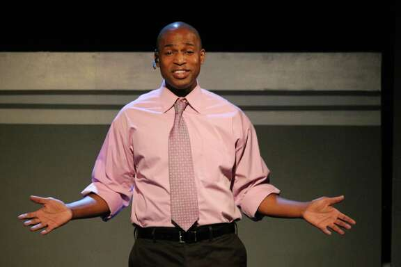"Jovan Jackson in a scene from the Landing Theatre's ""Ten Ways on a Gun"""